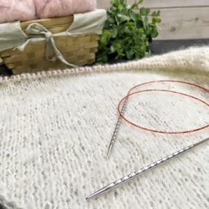 Спицы Addi NOVEL 6,5 мм - леска 40 см ( рельефные спицы с квадратным сечением)