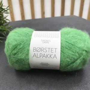 Пряжа Borstet Alpakka Sandnes Garn 8026 (зеленое яблоко)