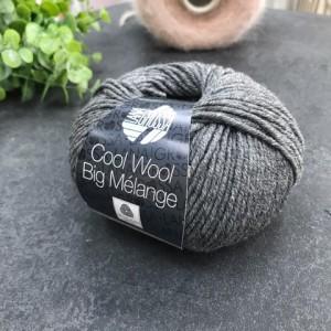 Пряжа Lana Grossa COOL WOOL BIG 618 (графит меланж)