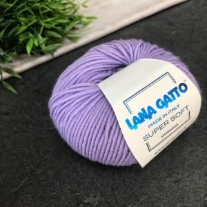 Пряжа Lana Gatto Super Soft 10180 (сиреневая)