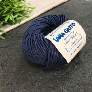Пряжа Lana Gatto Maxi Soft 5522 (синяя)