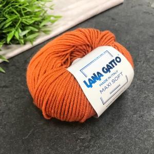 Пряжа Lana Gatto Maxi Soft 8433 (рыжая)