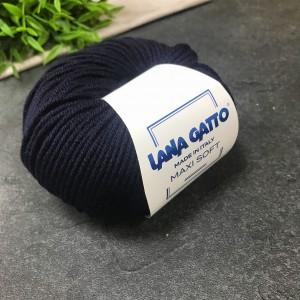 Пряжа Lana Gatto Maxi Soft 10214 (чернильная)