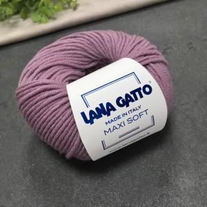 Пряжа Lana Gatto Maxi Soft 12940 (пыльная сирень)