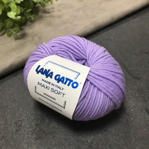 Пряжа Lana Gatto Maxi Soft 10180 (сирень)