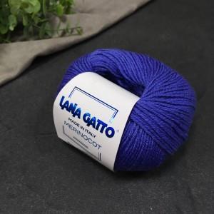 Пряжа Lana Gatto Merinocot 13605 (васильковый)