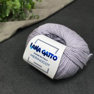 Пряжа Lana Gatto Merinocot 12504 (жемчуг)