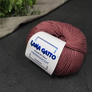 Пряжа Lana Gatto Merinocot 14445 (помада)