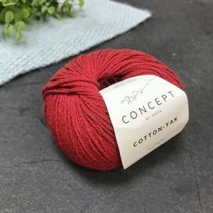 Пряжа Katia by Concept Cotton Yak 105 (терракот)