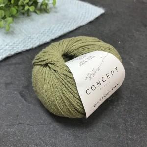Пряжа Katia by Concept Cotton Yak 107 (хаки)