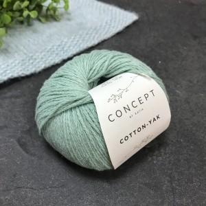 Пряжа Katia by Concept Cotton Yak 111 (мята)