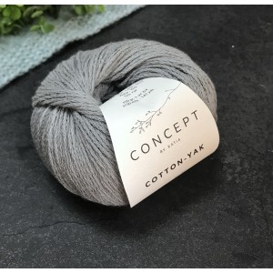 Пряжа Katia by Concept Cotton Yak 112 (светло-серая)