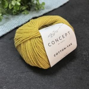 Пряжа Katia by Concept Cotton Yak 118 (кукуруза)