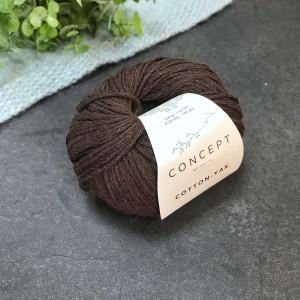 Пряжа Katia by Concept Cotton Yak 123 (шоколад)