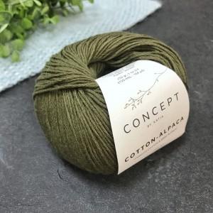 Пряжа Katia by Concept Cotton Alpaca 101 (хаки)