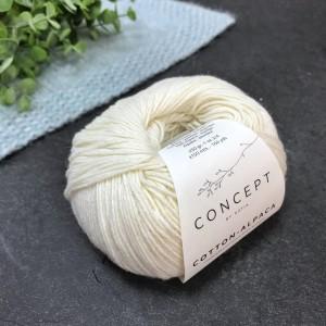Пряжа Katia by Concept Cotton Alpaca 80 (белая)