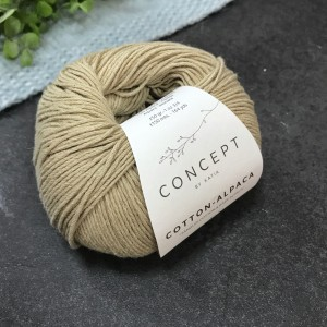 Пряжа Katia by Concept Cotton Alpaca 83 (песок)