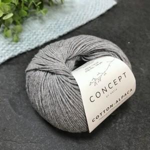 Пряжа Katia by Concept Cotton Alpaca 84 (серая)