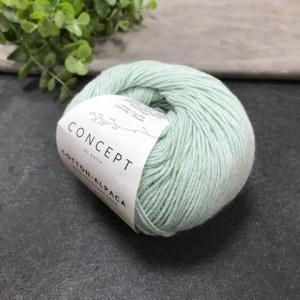 Пряжа Katia by Concept Cotton Alpaca 95 (мята)