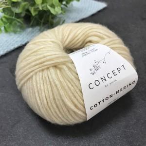 Пряжа Katia by Concept Cotton-Merino 101 (сетло-беж)