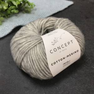 Пряжа Katia by Concept Cotton-Merino 106 (серая)
