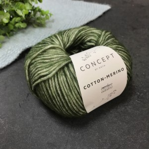 Пряжа Katia by Concept Cotton-Merino 122 (хаки)