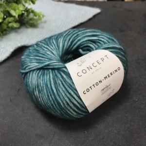 Пряжа Katia by Concept Cotton-Merino 126 (морская волна)