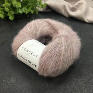 Пряжа Katia by Concept Alpaca Silver 252 (роза)