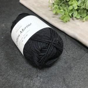 пряжа Infinity Design Cotton Merino 1099 ( черная)