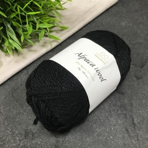 Пряжа Infinity Design Alpaca Wool 1099 (черная)
