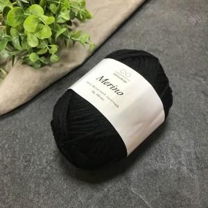 Пряжа Merino Infinity Design 1099 (черная)
