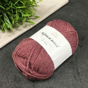Пряжа Infinity Design Alpaca Wool 4053 (темная пыльная роза)