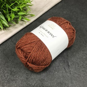 Пряжа Infinity Design Alpaca Wool 3355 (кирпич)
