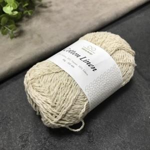 пряжа Infinity Design Cotton Linen 1015 (Жемчуг)