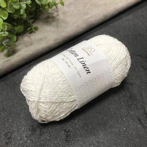 пряжа Infinity Design Cotton Linen 1002 (белая)