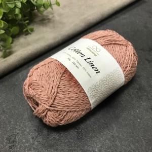 пряжа Infinity Design Cotton Linen 4032 (пыльная роза)
