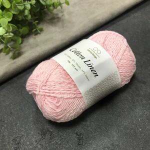 пряжа Infinity Design Cotton Linen 4302 (розовая)