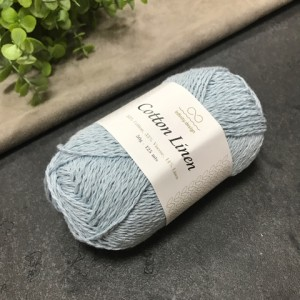 пряжа Infinity Design Cotton Linen 5930 (светло-голубая)