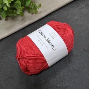 пряжа Infinity Design Cotton Merino 4219 (красная)