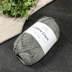 пряжа Infinity Design Cotton Linen 6030 (серая)