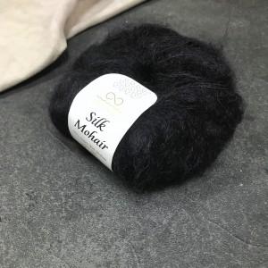 пряжа Infinity Design Silk Mohair 1099 (черная)