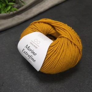 Пряжа Merino Extrafine Infininy design 2134 (мёд)