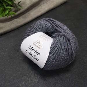 Пряжа Merino Extrafine Infininy design 1042 (серый меланж)
