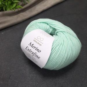 Пряжа Merino Extrafine Infininy design 7711 (мята)