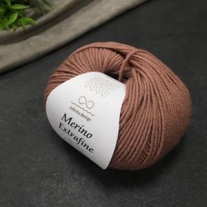 Пряжа Merino Extrafine Infininy design 4042 (розовое дерево)