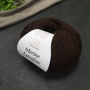 Пряжа Merino Extrafine Infininy design 3082 (шоколад)