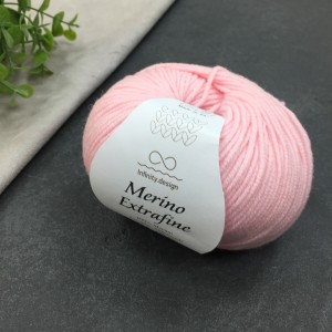Пряжа Merino Extrafine Infininy design 3911 (светлый розовый)
