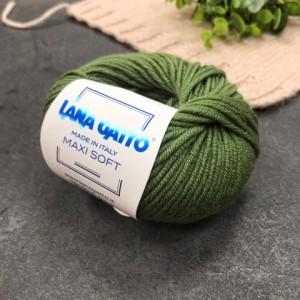Пряжа Lana Gatto Maxi Soft 13278 (трава)