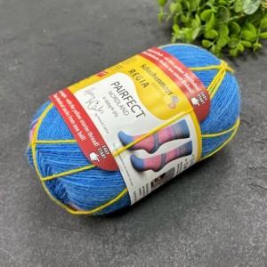 Пряжа Schachenmayr Regia Design Line из 4 нитей. Дизайн от Arne & Carlos 06822 (голубой, розовый)