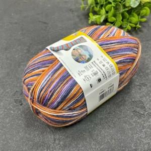 Пряжа Schachenmayr Regia Gargia Color 03861 (оранж, лаванда, серый)
